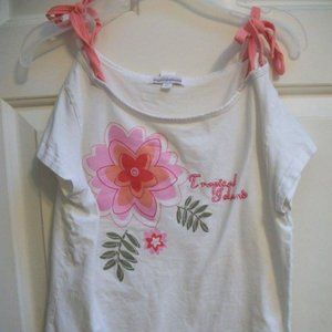 Genevieve Lapierre White Shirt w Flower Girl 12